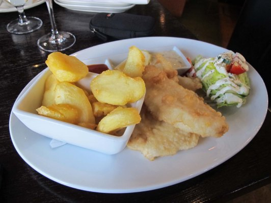 Delicious fish and chips. New Zealand has the freshest seafood.