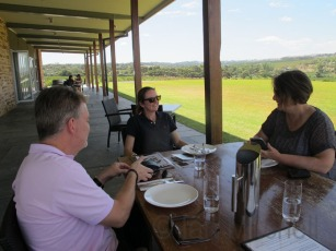 Relaxing in the beautiful surrounds of the Clare Valley