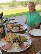 Husband very pleased with our platters at O'Leary Walker Wines