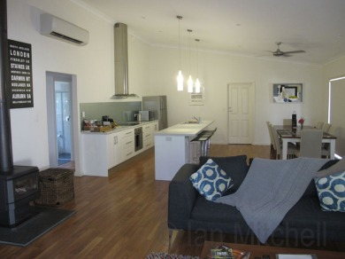Open plan kitchen/dining/leaving area