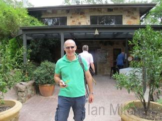 Husband at Jeanneret Wines